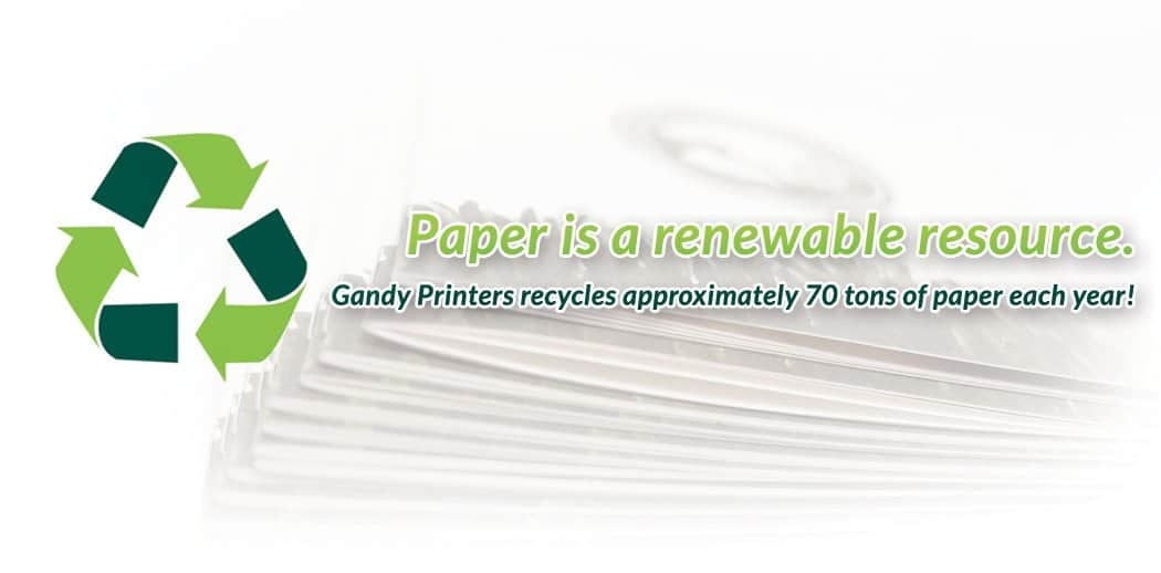 Gandy Printers Recycles 70+ Tons Of Paper Per Year!